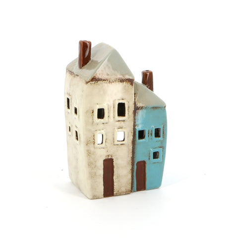 Two Cottage Ceramic Tealight Holder | Happy Piranha