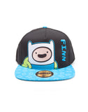 Adventure Time Finn Embroidered Snapback Cap | Happy Piranha