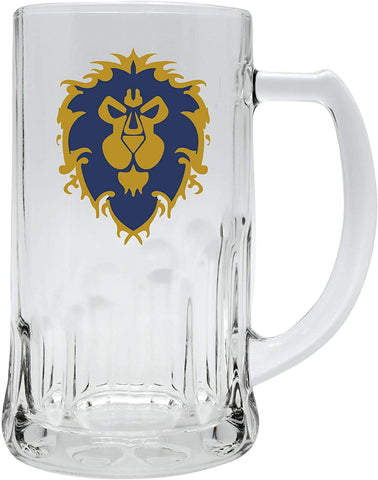 For the Alliance! World of Warcraft Glass Tankard | Happy Piranha