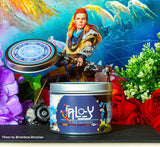 Aloy the huntress Horizon Zero dawn inspired candle by Happy Piranha
