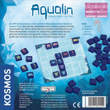 Aqualin Board Game Back of Box Design | Happy Piranha