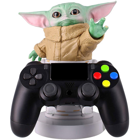 Star Wars Baby Yoda Cable Guy Phone and Controller Holder  With a PlayStation Controller | Happy Piranha