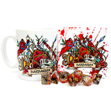 Dungeons and Dragons (DnD) Class Mug + Coaster (Barbarian)  | Happy Piranha