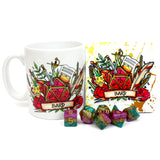 Dungeons and Dragons (DnD) Class Mug + Coaster (Bard)  | Happy Piranha