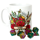 Dungeons and Dragons (DnD) Customisable Class (Bard) Dice Mug | Happy Piranha
