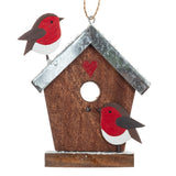 Birdhouse Robins Hanging Christmas Decoration | Happy Piranha