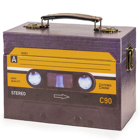 Black Retro C90 Cassette Storage Box | Happy Piranha