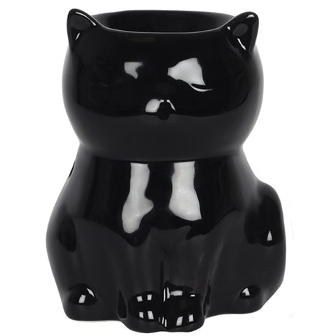 Black Cat Oil Burner and Wax Melt Warmer | Happy Piranha