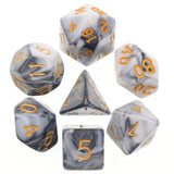 Blend Poly Dice Set - Marble (Black and White) | Happy Piranha