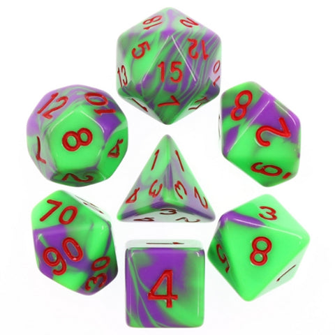 Blend Poly Dice Set - Ultra Venom (Purple and Green) | Happy Piranha