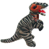 Brown T-Rex Dinosaur Finger Puppet Side View | Happy Piranha