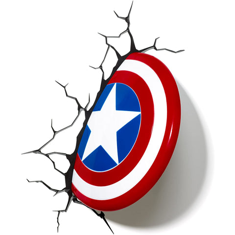 Marvel Captain America's Shield 3D Wall Light | Happy Piranha