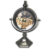 Free Standing Captain Cook's Mechanical Table Clock in Gun Metal Colour | Happy Piranha