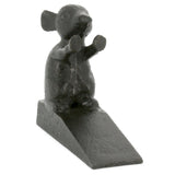 Standing Mouse Cast Iron Doorstop Front View | Happy Piranha
