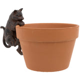 Large Cat Flower Pot Hanger on a Flower Pot | Happy Piranha