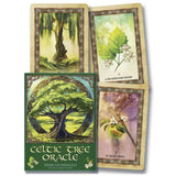 Celtic Tree Oracle Card Set Box and Three Card Examples | Happy Piranha