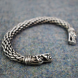 Chunky Dragon: Pewter Viking Bracelet | Happy Piranha