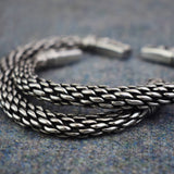 Chunky Dragon: Pewter Viking Bracelet Knotwork Close Up  | Happy Piranha