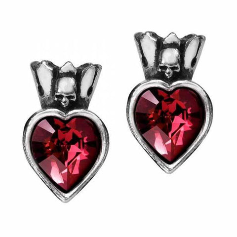 Claddagh Heart: Pewter and Swarovski Crystal Stud Earrings | Happy Piranha