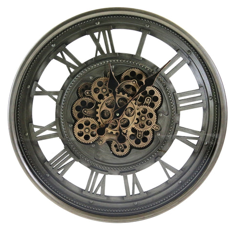 Moving cogs wall clock | Happy Piranha