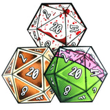 D20 Dice Coaster 3 Set (Horror) | Happy Piranha