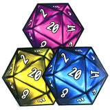 D20 Dice Coaster 3 Set (Primary 2) | Happy Piranha