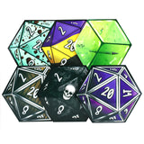 D20 Dice Coaster 6 Set Selection 1 | Happy Piranha