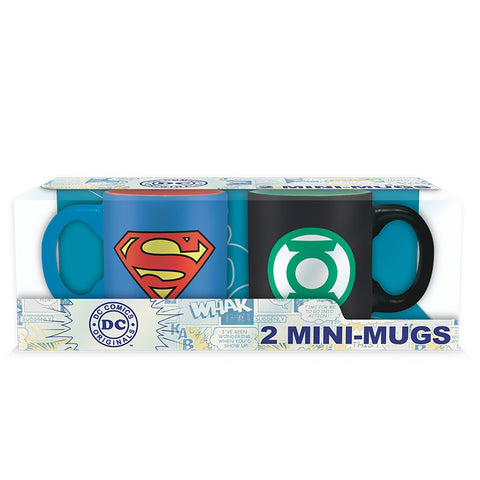 DC Comics Superman & Green Lantern Mini Espresso Mug Set | Happy Piranha