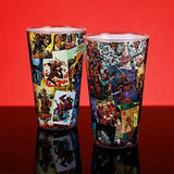 Large Marvel Deadpool Comic Book Glass on a Red Background  | Happy Piranha