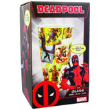 Large Marvel Deadpool Comic Book Glass in its Packaging | Happy Piranha