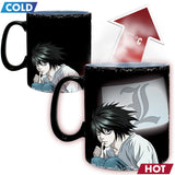 Death Note - Kira & L King Size Heat Change Mug Back Design | Happy Piranha