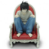 Death Note: L on Chair 1:10 Scale Action Figure Front View | Happy Piranha