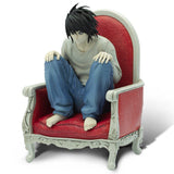 Death Note: L on Chair 1:10 Scale Action Figure Side Profile | Happy Piranha
