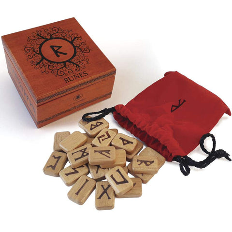 Deluxe Wooden Runes Set | Happy Piranha