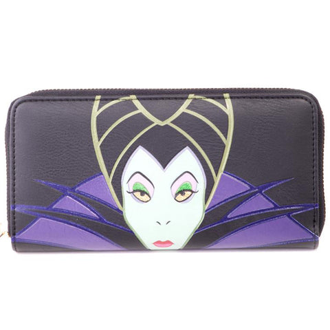 Disney Maleficent Ladies Zip Around Wallet / Purse | Happy Piranha