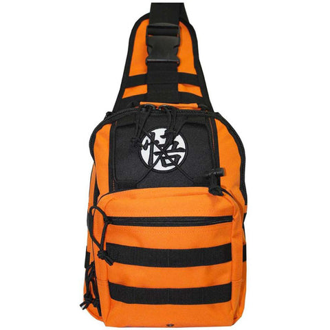 Dragon Ball Z Logo Orange Mini Sling Backpack | Happy Piranha