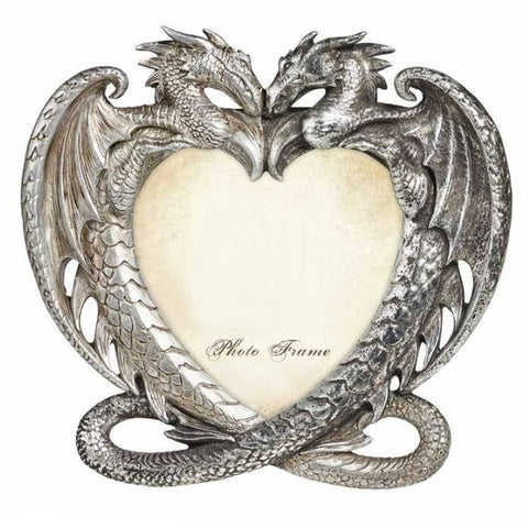 Dragon's Heart Antiqued Silver Photo Frame | Happy Piranha