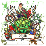 Dungeons and Dragons (DnD) Class Coaster (Druid)  | Happy Piranha