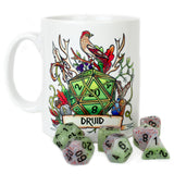 Dungeons and Dragons (DnD) Customisable Class (Druid) Dice Mug | Happy Piranha