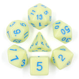 Eggshell Poly Dice Set - Custard Cream | Happy Piranha