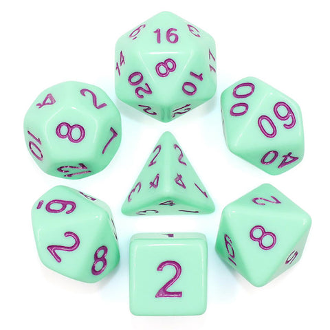 Eggshell Poly Dice Set - Mint Ice Cream (Turquoise) | Happy Piranha