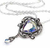 Empyrean Eye Pewter and Swarovski Crystal Pendant on a Chain | Happy Piranha