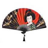 Geisha and Cranes Wall Fan - Inspired by Japan | Happy Piranha