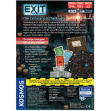 EXIT: The Cemetery of the Knight - Escape Room Board Game Back of Box | Happy Piranha