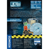 EXIT: The Polar Station - Escape Room Board Game Back of Box | Happy Piranha