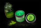 Fairy Dust scented candle by Happy Piranha with glitter!