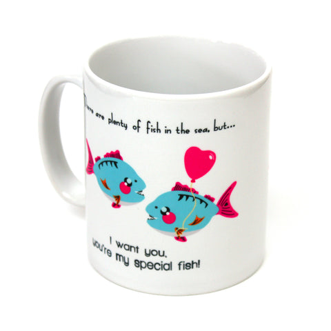 Happy Piranha Mug - Cool, Geeky, Gaming Gifts