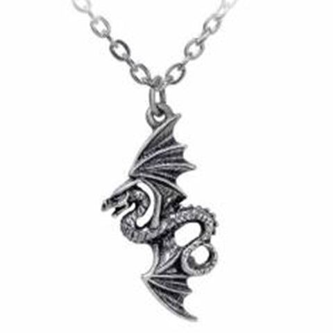 Flight of Airus: Pewter Flying Dragon Pendant | Happy Piranha