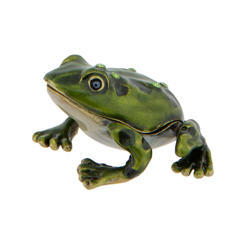 Gemstone Frog Miniature Trinket Box | Happy Piranha