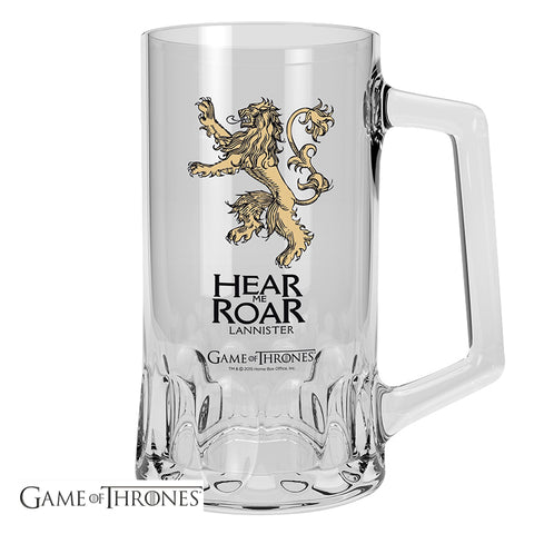 Game of Thrones House Lannister Glass Tankard | Happy Piranha